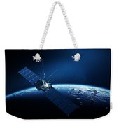 Communications Satellite Orbiting Earth Weekender Tote Bag