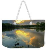Community Lake #8 Sunset Weekender Tote Bag
