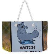 Compact Cars Only Sign Weekender Tote Bag