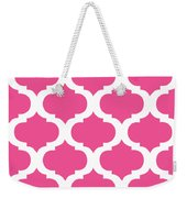 Compact Marrakesh With Border In French Pink Weekender Tote Bag