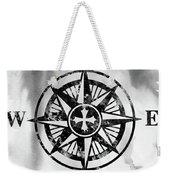 Compass-black Weekender Tote Bag