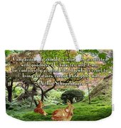 Compassion And Goodness Weekender Tote Bag