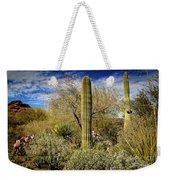Competing Giant Cacti Weekender Tote Bag