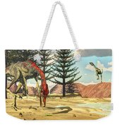 Compsognathus Dinosaur Attempts To Eat Weekender Tote Bag