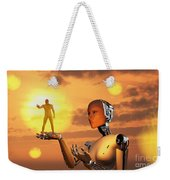 Concept Illustrating Mankind Becoming Weekender Tote Bag