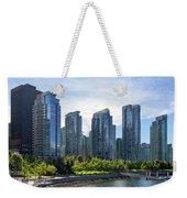 Condominium Waterfront Living In Vancouver Bc Weekender Tote Bag