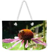 Cone Flower And Honey Bee Weekender Tote Bag