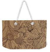 Cone Flowers And Daylily Weekender Tote Bag