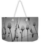 Coneflower Seedheads Covered In Snow Weekender Tote Bag