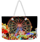 Coney Island Magic In Neon Weekender Tote Bag
