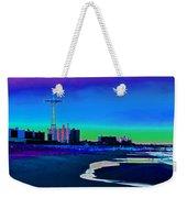 Coney Island Parachute Jump And Beach Weekender Tote Bag