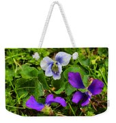 Confederate And Purple-blue Violets Weekender Tote Bag