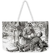 Confederate General John Brown Gordon Assists Wounded Union General Francis Channing Barlow Weekender Tote Bag