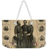 Confederate Generals Of The Civil War Weekender Tote Bag by War Is Hell Store