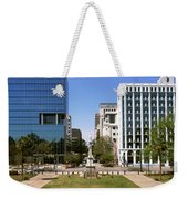 Confederate Monument With Buildings Weekender Tote Bag