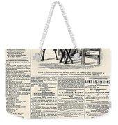 Confederate Newspaper Weekender Tote Bag