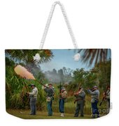 Confederate Rifle Fire Weekender Tote Bag