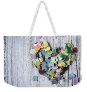 Confetti Heart Weekender Tote Bag