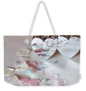 Confetti Hearts Weekender Tote Bag