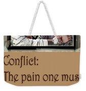 Conflict Weekender Tote Bag