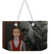 Confrontation Of Two Artworks Weekender Tote Bag