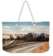 Congested Tracks Weekender Tote Bag