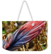 Congo African Grey Feather Weekender Tote Bag