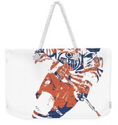 Connor Mcdavid Edmonton Oilers Pixel Art 6 Weekender Tote Bag