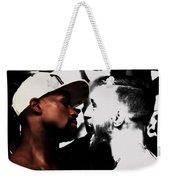 Conor Mcgregor And Floyd Mayweather Face Off  Weekender Tote Bag