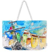 Conquistador Boat In Portugal Weekender Tote Bag