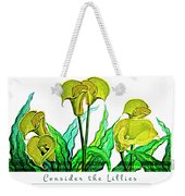 Consider The Lillies Weekender Tote Bag