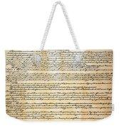 Constitution Weekender Tote Bag