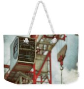 Construction Crane Weekender Tote Bag by Wim Lanclus