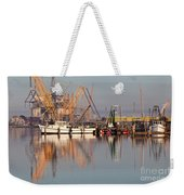 Construction Of Oil Platform With Boats Weekender Tote Bag