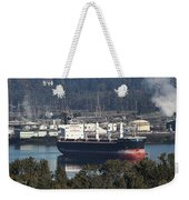 Container Ship Ready To Load More Lumber Weekender Tote Bag