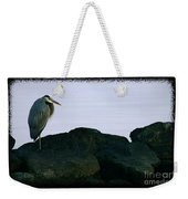Contemplating Heron Weekender Tote Bag