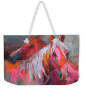 Contemporary Horses Painting Weekender Tote Bag