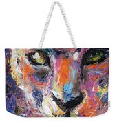 contemporary Wildlife painting cheetah leopard  Weekender Tote Bag