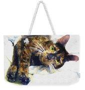 Contented Cat Weekender Tote Bag