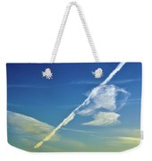 Contrails And Clouds Two  Weekender Tote Bag