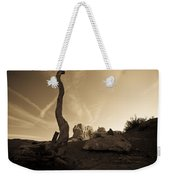 Contrails And Driftwood Weekender Tote Bag