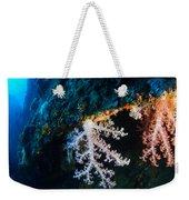 Contrasting Coral Weekender Tote Bag