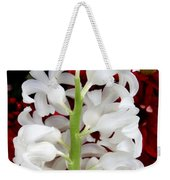 Contrasting Red And White Flowers Weekender Tote Bag