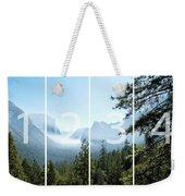 Controlled Burn Of Yosemite Panoramic Map Weekender Tote Bag