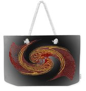 Convergence In Red And Gold Weekender Tote Bag