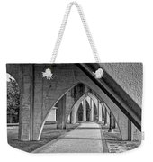 Conway River Walk Black And White Weekender Tote Bag