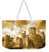 Conwy Castle And The Telford Suspension Bridge North Wales Weekender Tote Bag