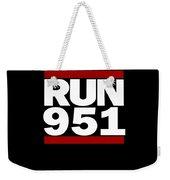 951 Design Run California Gifts 951 Shirt Weekender Tote Bag