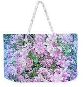 Cool Blue Apple Blossoms Weekender Tote Bag