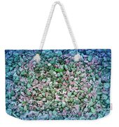 Cool Blue Pink Petals On Stones Weekender Tote Bag